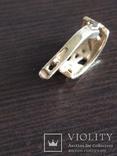 Серьга, золото 585, трезубец, с камешками., фото №5