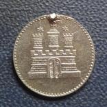 Сешлинг 1855 Гамбург серебро    (Г.5.20)~, фото №3