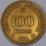 Аргентина 100 песо, 1978 200 років від народження Хосе де Сан-Мартіна