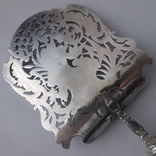 Сервировочная лопатка (для спаржи), рукоять серебро, Франция photo 10