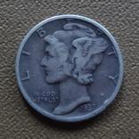 10  центов  1937  США  серебро (Ж.3.3)~, фото №2