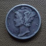 10  центов  1937  США  серебро (Ж.3.3)~, фото №3