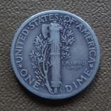 10  центов  1937  США  серебро (Ж.3.3)~, фото №4