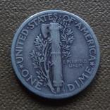 10  центов  1937  США  серебро (Ж.3.3)~, фото №5