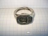 Серебряный перстень, герб Шелига, 17 века