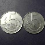 5 крон Чехія 1994 (два різновиди), фото №3