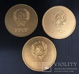 Медаль за окончание школы. Комплект разновидностей.  УССР, фото №2