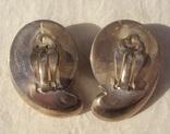 Фирменные серебряные клипсы, модернизм, 41 грамм., фото №5