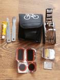 Многофункциональный мультитул для ремонта велосипеда,с чехлом + клей,латки, фото №2