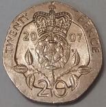 Велика Британія 20 пенсів, 2007