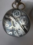 Часы Лунник стеклянный шар, фото №5