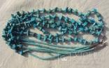 Бусы ожерелье натуральная бирюза США., фото №3