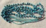 Бусы ожерелье натуральная бирюза США., фото №4