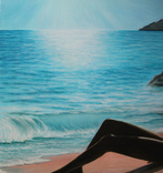 Ласковое море. 50х70 см. Холст, масло. Алек Гросс, фото №4