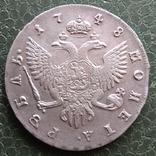 Рубль 1748 г. photo 4