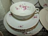 Сервиз чашки блюдца тарелки молочник чайник фарфор золочение Бавария Германия, фото №8