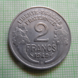 2 франка 1949 В  Франция   (Р.4.26)~, фото №2