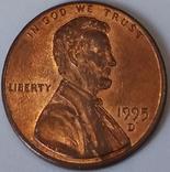 США 1 цент, 1995
