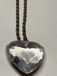 Кулон в виде сердечка на цепочке с италии 43 грамма, фото №2