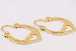 Золотые серьги 583, фото №4