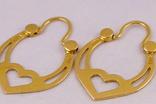 Золотые серьги 583, фото №5