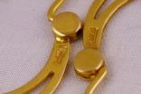 Золотые серьги 583, фото №6