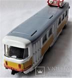 Трамвай Татра 1:87 НО для макета Ж/Д, инерционный, фото №9