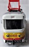 Трамвай Татра 1:87 НО для макета Ж/Д, инерционный, фото №10
