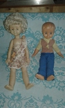 Кукла паричковая СССР 52 см. + кукла мальчик photo 1