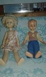 Кукла паричковая СССР 52 см. + кукла мальчик photo 2