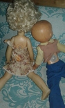 Кукла паричковая СССР 52 см. + кукла мальчик photo 3