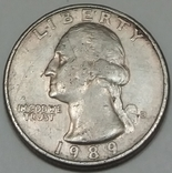 США ¼ долара, 1989 фото 1