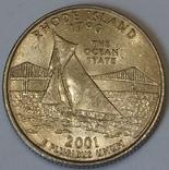 США ¼ долара, 2001 Квотер штату Род-Айленд