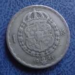 1 крона  1945  Швеция  серебро   (2.7.3)~, фото №2