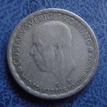 1 крона  1945  Швеция  серебро   (2.7.3)~, фото №3
