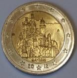 Німеччина 2 євро, 2012 Замок Нойшванштайн, Баварія