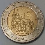 Німеччина 2 євро, 2011 Кельнський собор, Північний Рейн - Вестфалія