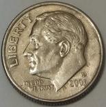 США 1 дайм, 2001