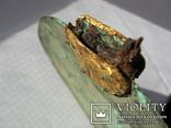 Скифское зеркало с золотыми пальметтами и бляшками звер.стиля(Заяц) в рукояти-5в.до н.э, фото №12