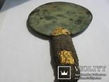 Скифское зеркало с золотыми пальметтами и бляшками звер.стиля(Заяц) в рукояти-5в.до н.э, фото №13