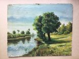 Старая картина фанера , масло. 30 х 24 см.