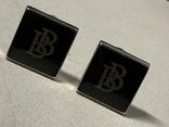 Запонки в родной коробке бренда Brubaker  из США, фото №4