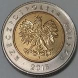 Польща 5 злотих, 2018 100 років незалежності фото 2