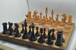 Шахматы старые дерево photo 7