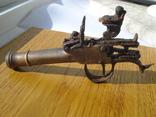 Карманный,бронзовый, Флотский ,пистоль 19 века!Бельгия. photo 10