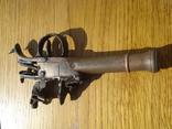 Карманный,бронзовый, Флотский ,пистоль 19 века!Бельгия. photo 11
