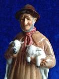 Окот овец. Royal Doulton. Англия.  (Довоенная) фото 7