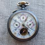 Часы карманные с годовым календарем, лунник на ходу