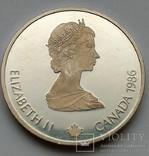 Канада 20 долларов,1986 Олимпийские Игры, Калгари 1988 - Хоккей,С34, фото №3