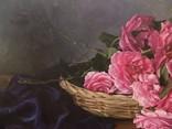"""Натюрморт с садовыми розами"" 45х55 см, х/м, Костенко А.С. photo 3"